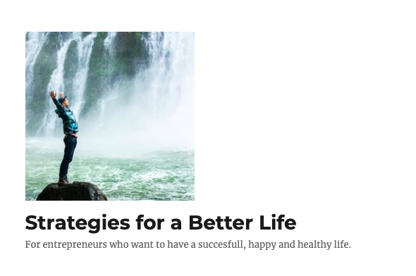 Strategies For a Better Life University